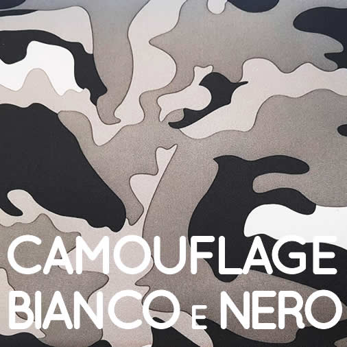 Camouflage bianco e nero